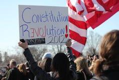 De Revolutie 2012 van de grondwet Stock Foto's