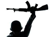 De revolutionaire mens van de legermilitair Stock Afbeeldingen