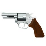 De revolver van het chroom royalty-vrije illustratie