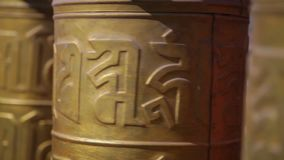 De rezo de las ruedas templo de oro adentro, China almacen de video