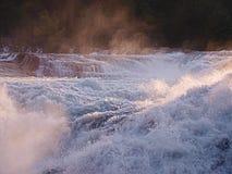 De Rhine fallsna arkivfoton