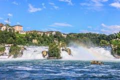 De Rhine fallsna Arkivbilder