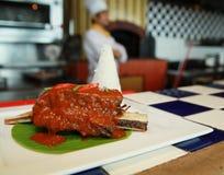 De rib Aziatisch voedsel van het rundvlees Stock Foto's