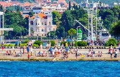 De ribben toneelmening van Kroatië tijdens de zomerdag royalty-vrije stock afbeelding