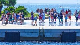 De ribben toneelmening van Kroatië tijdens de zomerdag royalty-vrije stock foto's