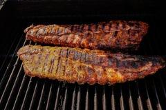 De ribben van Barbequed Stock Foto's