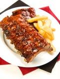 De Ribben van de barbecue Royalty-vrije Stock Foto's