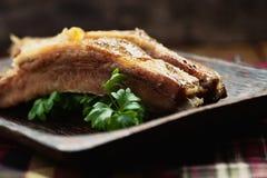 De ribben van het varkensvlees Stock Afbeelding