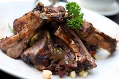 De Ribben van het varkensvlees Royalty-vrije Stock Foto's