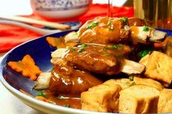 De ribben van het varkensvlees met tofu Royalty-vrije Stock Afbeeldingen