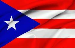De rican vlag van Puerto - Puerto Rico Stock Afbeelding