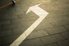 De richting op de vloer royalty-vrije stock foto