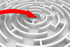 De richting van de beweging aan succes stock illustratie