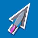 De richting van de raket Stock Fotografie