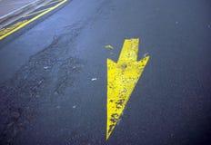 De Richting van de wegverf stock foto