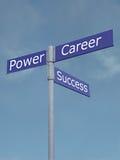 De richtingen van de macht, van het succes en van de carrière Royalty-vrije Stock Afbeeldingen