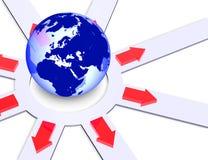 De richtingen van de wereld Royalty-vrije Stock Fotografie