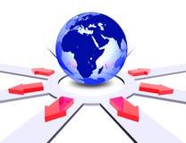 De richtingen van de wereld Stock Foto