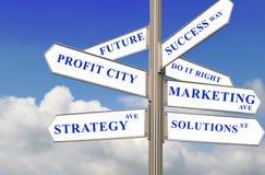 De Richtingen van het beheer Royalty-vrije Stock Afbeelding