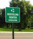 De Richtingenteken van het recyclingscentrum Royalty-vrije Stock Afbeelding