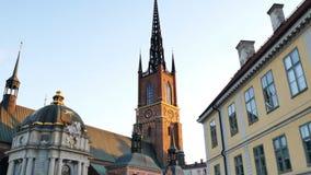 De Riddarholmen-Kerk stock footage