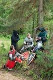 De ridders kamperen royalty-vrije stock foto