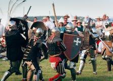 De ridders vechten Stock Foto