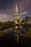De Riekermolen sans compter que la rivière d'Amstel à Amsterdam, Pays-Bas photo stock