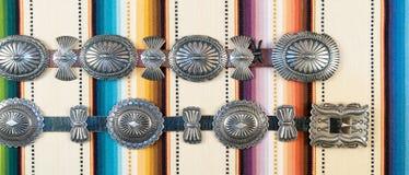 De Riem van Native American Concho royalty-vrije stock afbeeldingen