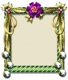 De riet-klok van het suikergoed frame Royalty-vrije Stock Afbeelding
