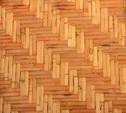 Geweven houten patroonachtergrond Royalty-vrije Stock Foto