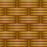 De rieten naadloze textuur van het mandewerkpatroon Royalty-vrije Stock Afbeeldingen