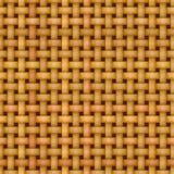 De rieten naadloze textuur van het mandewerkpatroon Stock Afbeeldingen