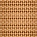 De rieten naadloze textuur van het mandewerkpatroon Stock Fotografie