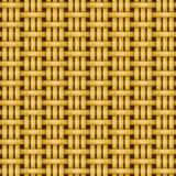 De rieten naadloze textuur van het mandewerkpatroon Stock Foto