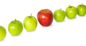 De rij van appelen Stock Afbeelding