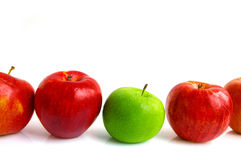 De rij van de appel Royalty-vrije Stock Foto's