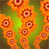 De Rij van de bloem Royalty-vrije Stock Afbeeldingen
