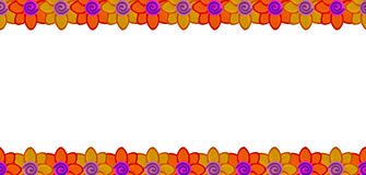 De rij van de bloem die van klei wordt gemaakt Royalty-vrije Stock Foto