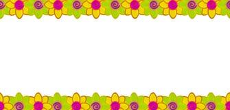 De rij van de bloem die van klei wordt gemaakt Stock Fotografie