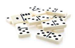 De rij van de domino van witte domino's Royalty-vrije Stock Afbeeldingen