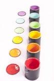 De Rij van de Verf van de regenboog Stock Foto's