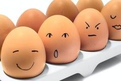 De rij van eieren Royalty-vrije Stock Fotografie