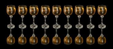 De rij van het glas Royalty-vrije Stock Afbeelding