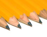 De rij van het potlood Stock Fotografie