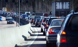 De rij van het verkeer Stock Fotografie