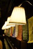 De rij van lampen Stock Afbeeldingen