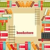 De rijen van boeken op planken Stock Foto's