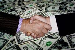 DE RIJKDOM VAN DE HANDschok FINANCIËLE PLANNINGSinvestering Royalty-vrije Stock Fotografie