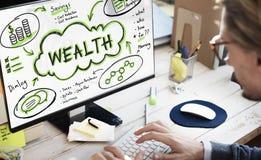De Rijkdom van financiëninkomens investeert Activaconcept stock fotografie